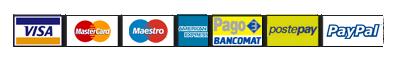 pagamenti accettati: paypal, postpay, bonifico, contrassegno, carta di credito